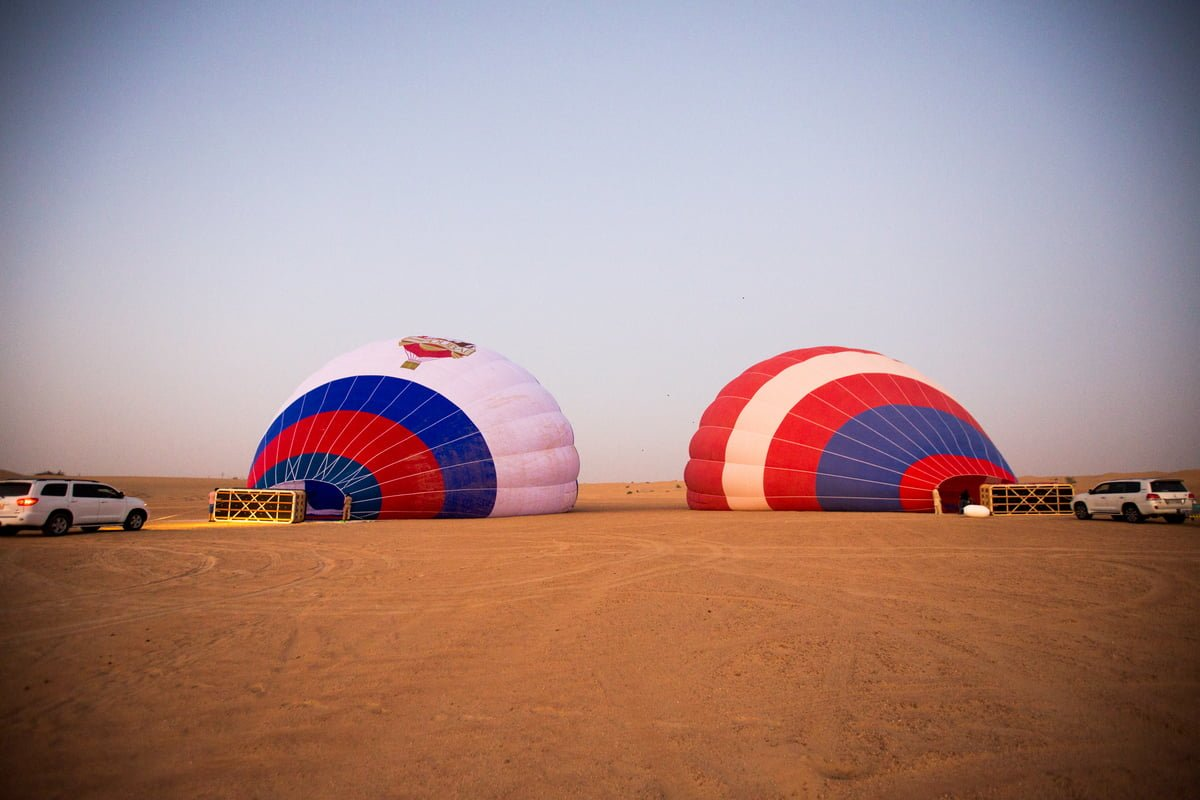Hot Air Balloons in Dubai Desert